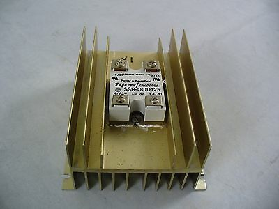 SSR 48-660 VAC 125 Amp solid state relay with heatsiink. SSR-480D125