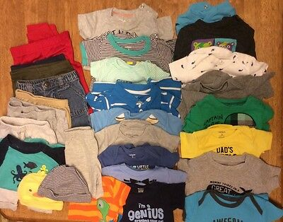 Lot 0/3 And 3 Month Baby Boy Clothing - 30 Pieces