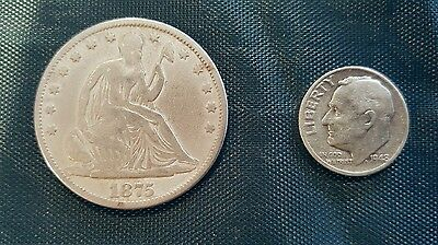 1875 Seated Liberty Half Dollar and Silver Dime
