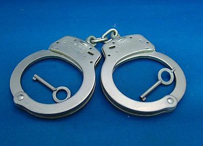 Smith & Wesson Chain Model 100 Nickle Plated Handcuffs