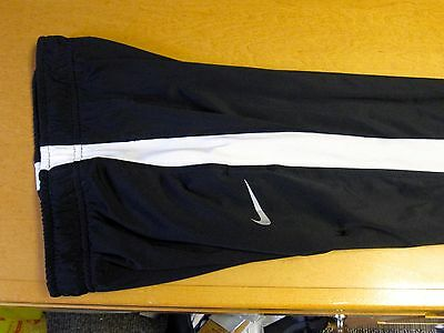 Boys NIKE Dri-Fit Athletic Track Wind Pants Size S Youth Warm Up Black/White
