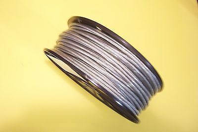 "Clear Vinyl Coated Wire Rope Cable, 1/8"" - 3/16"", 7x7, 200 ft reel"