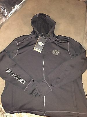 Harley-Davidson Men's Outerwear Black Thunder Soft Shell Small Jacket Zip