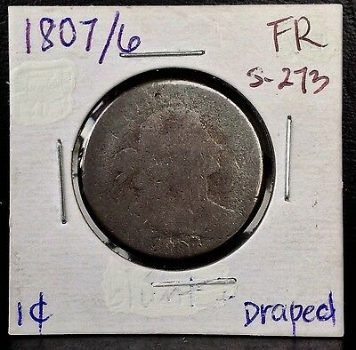 1807/6 1C Large 7 Draped Bust LARGE CENT S-273