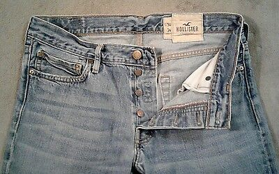 Awesome Mens Hollister Balboa Classic Straight Button Fly Jeans, Size 34 x 34