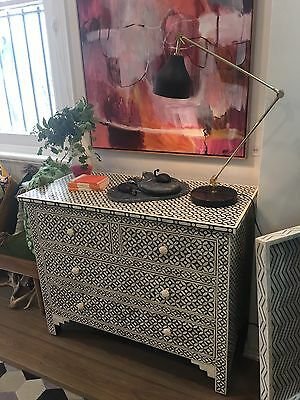 RRP$2,500 Fenton and Fenton chest of Drawers Buffet Designer Piece Bone Inlay