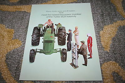 John Deere New 4520 120 HP Turbo Diesel Tractor Brochure 1968!