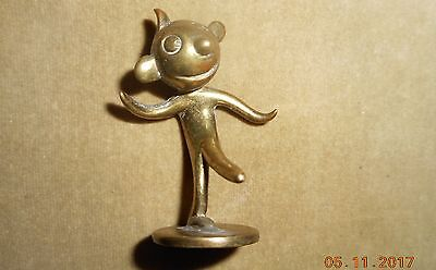 Antique  Wiener Werkstatte Hagenauer Whw Bronze Miniature Figure Felix  Cat #1