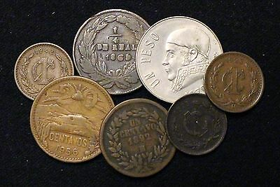 Lot of Mexican Coin 1866 1/4 Real 1892 Centavo 1923 1 Cent 1956 20 Centavos ETC