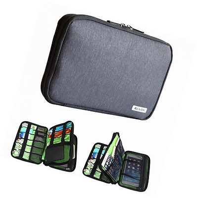 Kenox Double Layer Travel Gear Organizer / Electronics Accessories Bag / Battery