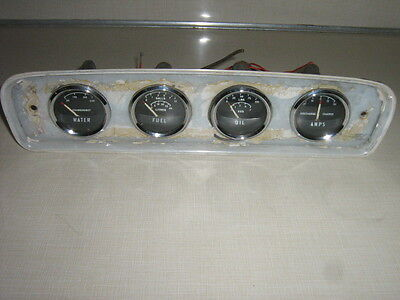 Vintage Automobile Gauge Cluster Water Fuel Oil Amps Made in England