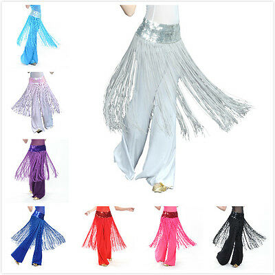 BellyLady Belly Dance Hip scarf Womens Ladies Fringe Skirt Wrap Fashion Sequined