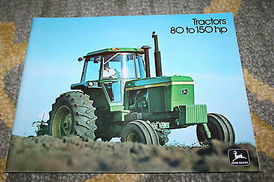 John Deere 4030 4230 4430 4630 Sound Idea Tractors 80 to 150 HP Brochure 1975!!