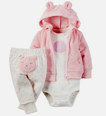 Carters Baby Girl Size 6 Months Little Baby Basics Pink Layette New