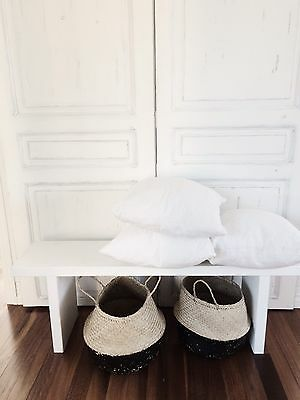 White Wooden Bench Seat, Great A Coffee Table, Use At Kitchen Table Or Kids Room