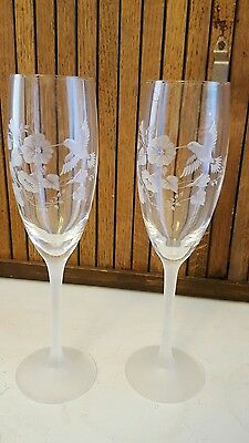 2 Beautiful Avon Crystal Hummingbird Flutes