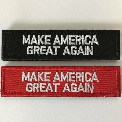 Bundle 2PCS Make America Great Again Donald Trump Army Tactical Morale Hat Patch