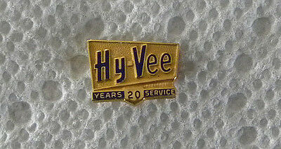 Vintage Early 1970's HY-VEE Grocery Store Employee 20 Year Service PIN, Badge