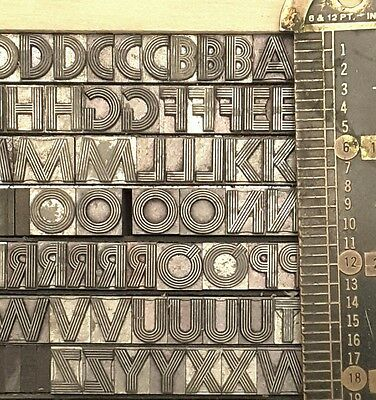 Lot 30Pt Letterpress Printing Line Type Font Metal Lead Vintage