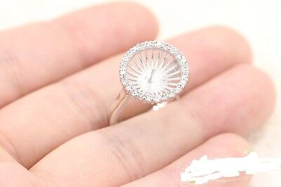 ring finger care 11mm Pearl Ring Setting FInding Jewelry