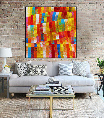 Huge 100cm by 100cm Aboriginal style painting aboriginal art by Judy Narnina