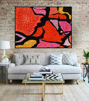 Huge 110cm by 75cm Aboriginal style painting, aboriginal art by Anna Narnina
