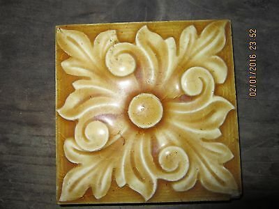 Early Vintage Signed Arts And Crafts Tile Trenton Nj
