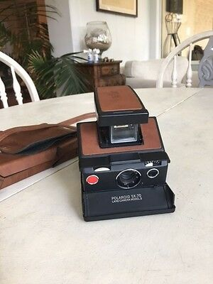 Vintage Polaroid SX-70 Land Camera Model  3 With Leather Case Great Condition