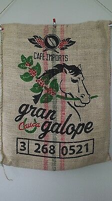 Hessian Sack Horse Design Colombian Sisal Coffee Bag Gran Galope