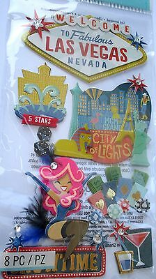 JOLEE'S BOUTIQUE LAS VEGAS Nevada Casino Scrapbook Craft Stickers Embellishment