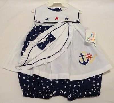 "NWT B.T. Kids Toddler Girl Dress ""Sailor"" Blue & White Size 18 Months"