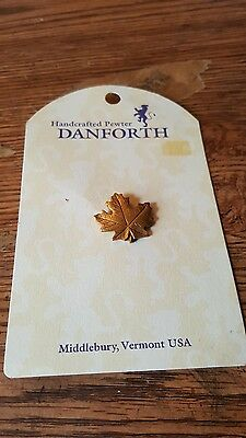 Hamdcrafted Pewter Danfodth Pin 24k Gold Plated