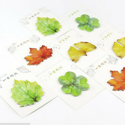 Popular 2pcs Fallen Watercolor Leaves Self-Adhesive Memo Pad Sticky Note Planner