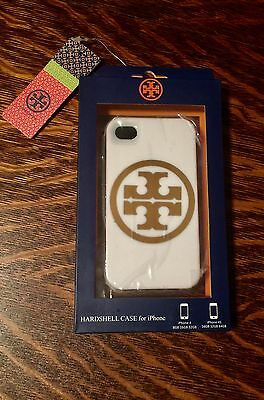 New TORY BURCH White Gold iPhone 4/4S Hardshell Case Phone Cover