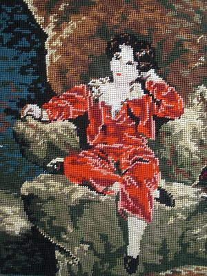 """New completed cotton needlepoint Master Lambton -RED BOY- Lawrencer 15""""x11.8"""""""