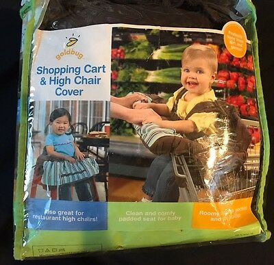 Infantino High Chair Shopping Cart Cover Baby Toddler Safety Harness Goldbug