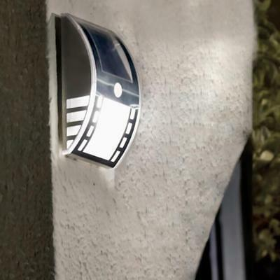 Stainless Steel Wall Motion Sensor 3-LED Solar Lamp Night Light Warm White