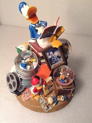 Limited Edition Disney Donald Duck Quad Snow Globe With All Donald's Nephews