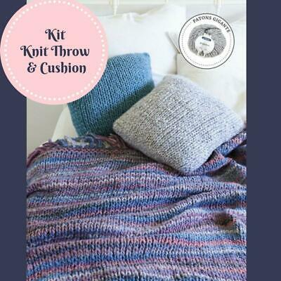 Knit Throw & Cushion Cover Kit