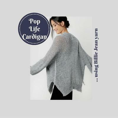 NEW Pop Life Cardigan Wool and the Gang - Knitting, Crochet, Sewing, Patterns