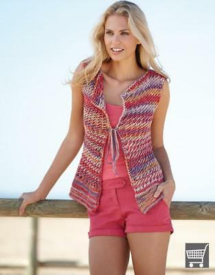 NEW Ladies Vest Tx277 Katia - Knitting, Crochet, Sewing, Patterns