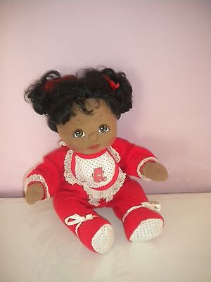 MY CHILD DOLL black AFRICAN AMERICAN AA girl doll VGUC original outfit