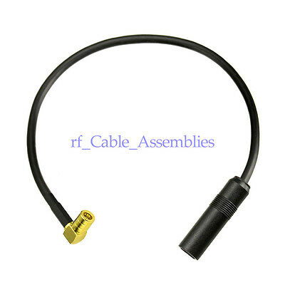 DAB+ Radio Antenna Adapter Cable DIN / SMB Car Radio Antenna Extension Lead 20cm