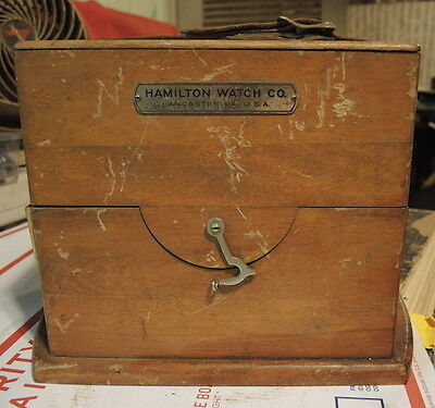 Hamilton 22 Marine Chronometer Clock BOX Case, DECK CLOCK CASE
