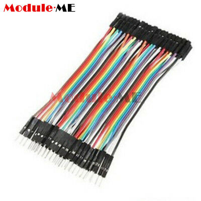 New 40PCS Dupont 10CM Male To Female Jumper Wire Ribbon Cable for Arduino UK