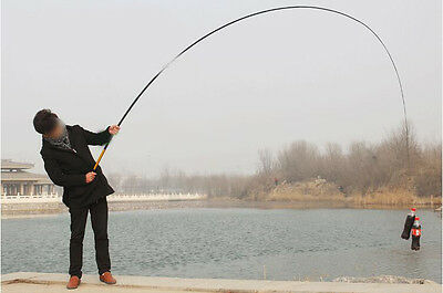 5.4M Portable Super Strong Carbon Telescopic Spinning Pole Sea Fishing Rods ^^#