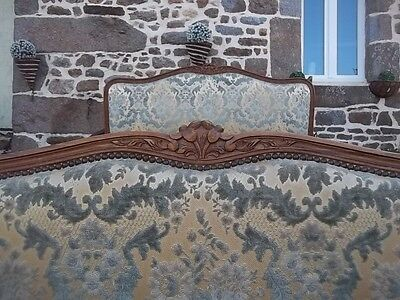French  Opulent Satin/brocade Double Louis Xv Style Corbiele Bedstead