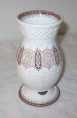 Antique Aesthetic Movement Toothbrush Holder England Registered 1880s Ironstone