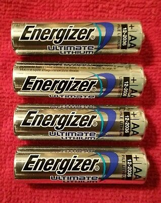 4-Pc Energizer L91 Ultimate Lithium AA Batteries 1.5v AA4 Exp.2036