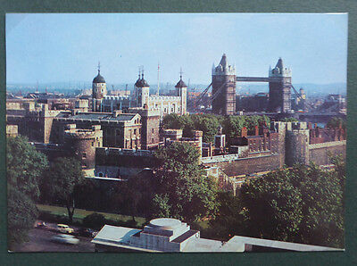 Vintage British Postcard - Tower Of London From Building Authority